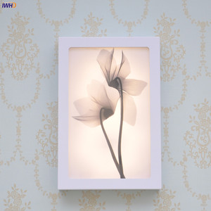 Image 2 - Fashion Arts Painting Wall Lamp Sconce12W Acrylic Modern Flower Wandlamp Bedroom Lights Fixture Stairs Applique Murale Luminaire