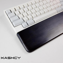 Kashcy solid wooden African blackwood palm rest for Ergonomic Gaming Mechanical Keyboard wrist support pad 60