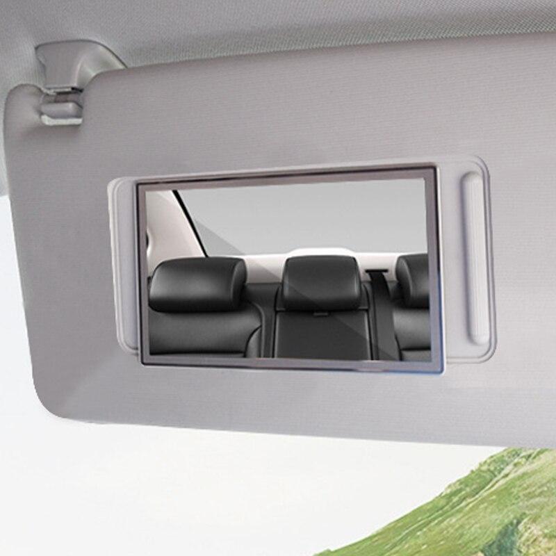 Зеркало для макияжа автомобиля из нержавеющей стали Портативный авто солнцезащитный козырек HD зеркала зеркало для салона автомобиля универсальный автомобильный Стайлинг|Комнатные зеркала|   | АлиЭкспресс