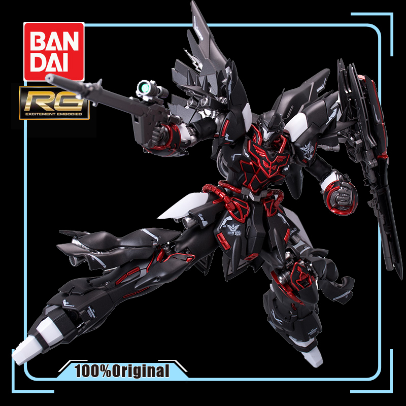 BANDAI RG 1/144 MSN-06S Sinanju GUNDAM Black Phantom Metal Coloring Action Toy Figures Up To Assembly Model Boy Favorite Gift(China)