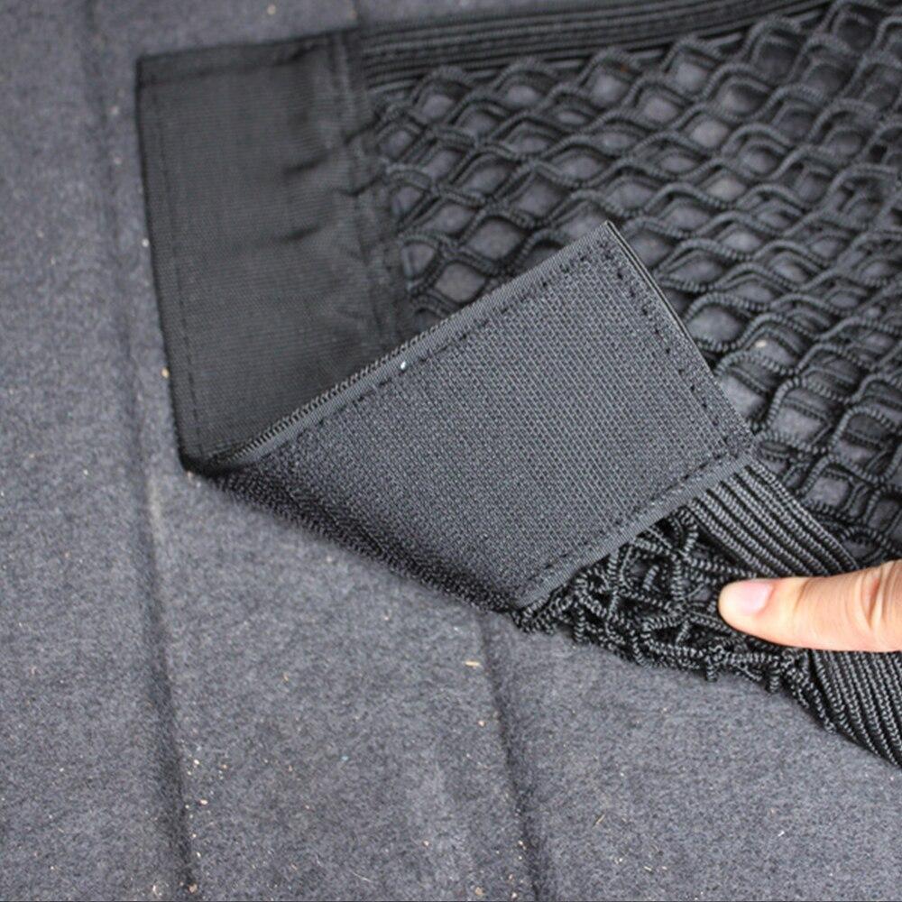 Автомобильное сиденье для заднего багажника, эластичная Сетчатая Сумка для хранения, держатель для багажа, карманная наклейка, органайзер для багажника, автомобильная стильная сумка для спинки сиденья