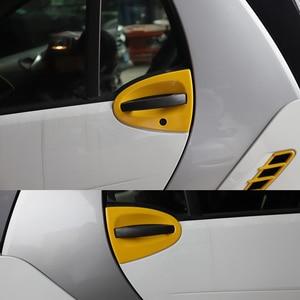Image 2 - Auto Gelb Dekorative Abdeckung Moulding Armlehne Instrument Abdeckung Fall Shell Änderung Für Alte Smart 451 fortwo Zwei Tür