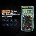 ZOTEK ZT100 Мини Авто Диапазон Цифровой мультиметр 4000 отсчетов AC DC Амперметр Вольтметр 550 в защита от перегрузки ЖК-подсветка