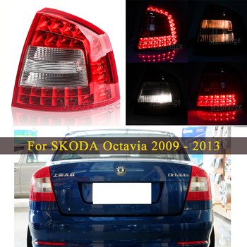 Tail light Led taillights for SKODA Octavia A6 for RS 2009 2010 2011 2012 2013 Rear Brake Lamp Tail Stop Reflector Fog lights car styling tail lamp for toyota fj cruiser 2007 2014 taillights tail lights led rear lamp led drl brake park signal stop lamp