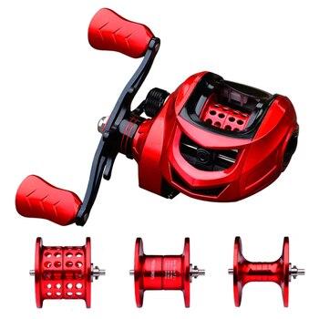 New 2021 Fishing Reel 10kg Max Drag Metal Spool Baitcasting Reel 7.2:1 High Speed Gear Ratio Magnetic Brake Casting Wheel Carp 1
