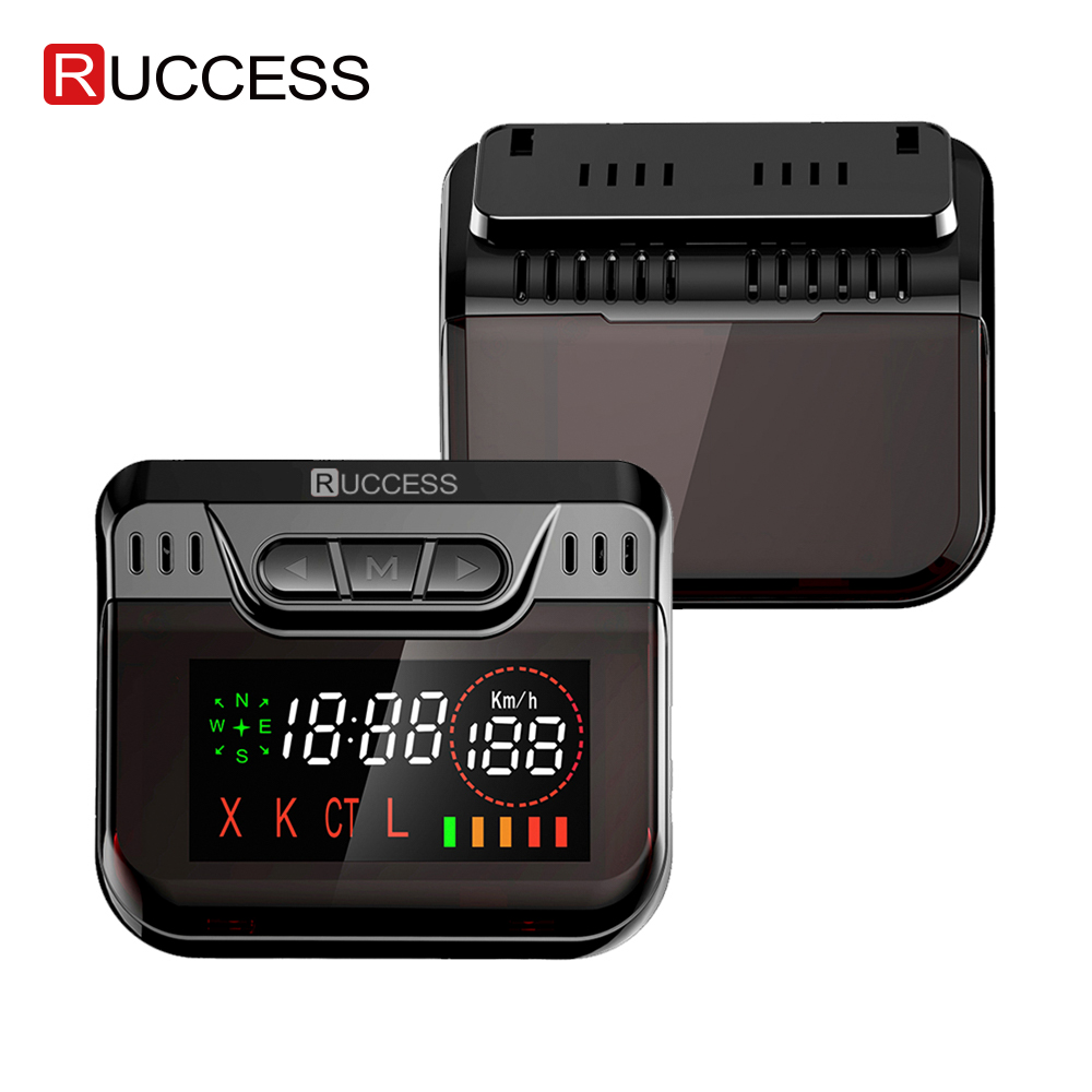 Ruccess Anti Radar Detector With GPS Speed Camera Detector Hidden Design 360 Degree X Ka L CT 2 In 1 Car Detector For Russia