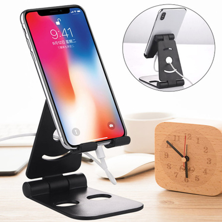 2020 NEW Universal Adjustable Mobile Phone Holder for iPhone Huawei Xiaomi Plastic Phone Stand Desk Tablet Folding Stand Desktop