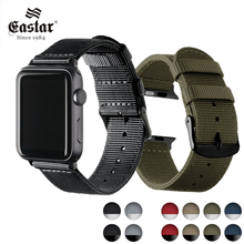 Lightweight Breathable waterproof Nylon strap for apple watch 6 5 SE band 42mm 38mm for iWatch 40 44mm serise 4 3 2 1 watchband cheap EASTAR CN(Origin) 20cm Watchbands New without tags Watch Bands Buckle