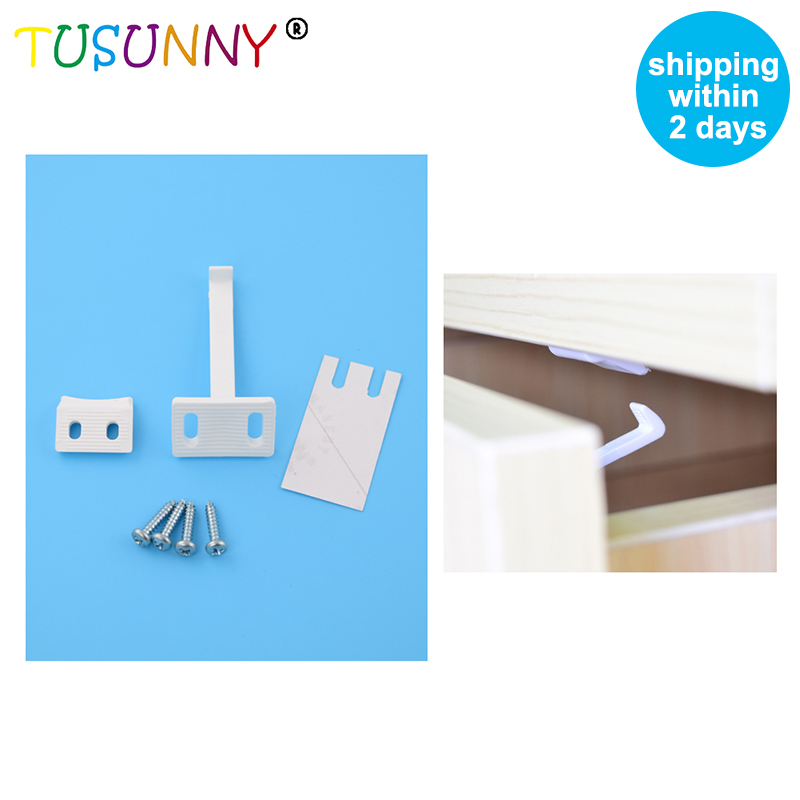 TUSUNNY 4 Pcs Per Lot Household Child Safety Products Baby Child Safety Cabinet Door Locks Child Safety Drawer Lock