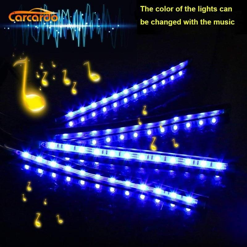 Carcardo 1 Set Voice Music Control LED Atmosfer Neon İşıq lampası - Avtomobil işıqları - Fotoqrafiya 4