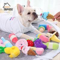 Snailhouse Cartoon Kreative Stil Hund Spielzeug Sounding Plüsch Spielzeug Gefüllte Quietschen Pet Spielzeug Nette Plüsch Molaren Hund Katze Quietschende Pet spielzeug-in Hundespielzeug aus Heim und Garten bei