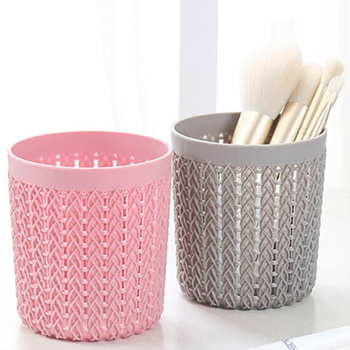 Cylinder Hollow Cosmetic Brush Box Holder Cylinder Storage Empty Holder Cosmetic Brush Bag Brushes Organizer Make Up Tools 3 size empty portable travel makeup brushes round pen holder cosmetic case pu leather cup brush holder tube storage organizer