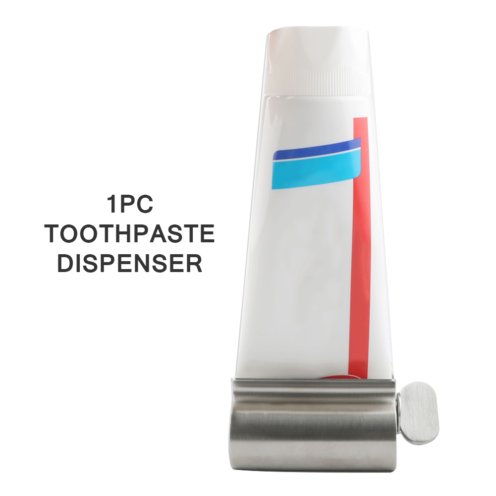Toothpaste Squeezer Bathroom Supplies Cosmetics Extruder Durable Rolling Tube Stainless Steel Multifunctional Portable Dispenser