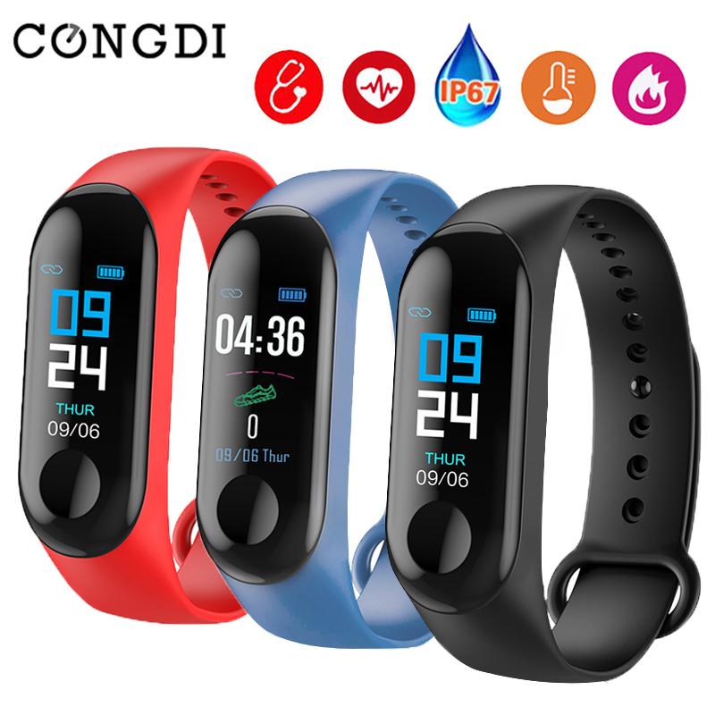 M3 Smart Bracelet Bluetooth Sport Watch Smart Band Blood Pressure Waterproof Heart Rate Fitness Wrist Band Watch For Android IOS