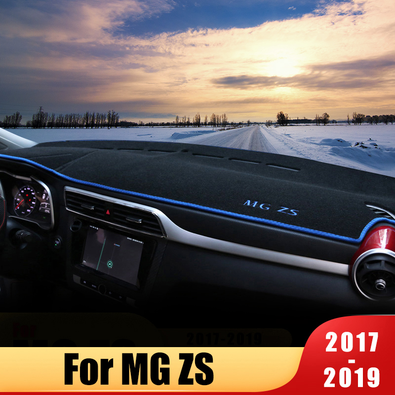 Car Dashboard Avoid Light Pad Instrument Platform Desk Cover Mats Carpets For MG ZS 2017 2018 2019 Accessories