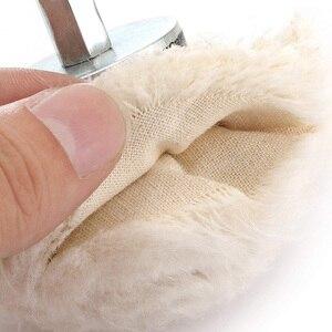 Image 5 - 6 sztuk polerowanie samochodów gąbka uszczelniająca trwała biała bawełniana tarcza polerska felgi samochodowe Detailing woskowanie Pad Auto czyszczenie narzędzie do konserwacji