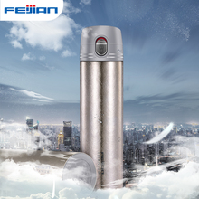 FEIJIAN 380ml Thermos Bottle Titanium Double Wall Thermal Cup Travel Mug Water Vacuum Cup Office Business Gift Box