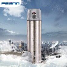 FEIJIAN 380ml butelka termosowa tytanowa podwójna ściana kubek termiczny kubek podróżny woda kubek próżniowy biuro prezent biznesowy Box