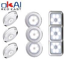 Led sob o armário luz da noite sensor de movimento luz do armário cozinha quarto iluminação lâmpada parede com tira magnética lâmpada led cozinha