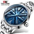 Reloj Mecánico de marca TEVISE para hombre, reloj automático tourbillon de lujo, reloj de pulsera de acero inoxidable, reloj de pulsera