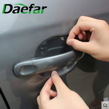 Daefar Door Handle Protective Film Car Stickers For Ford Focus 2 3 4 Fiesta Ecosport Kuga Escape Edge For Mondeo Explorer image