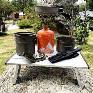Image 1 - Offre spéciale Portable pliable Table pliante bureau Camping pique nique en plein air 6061 en alliage daluminium Ultra léger bureau pliant
