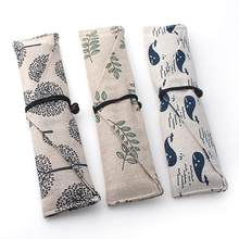 1pc portátil saco de utensílios de mesa pauzinhos colher saco pano & vento talheres saco de armazenamento gravata linha talheres saco para pauzinhos palha bolsa