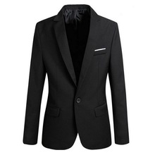 Dihope Men Slim Fit Social Blazer Spring Autumn Fashion Solid Mens Wedding Dress