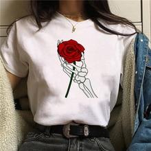 ZOGANKIN Flower Print T-shirt Summer Fashion Short Sleeve Tops Tee
