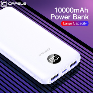 Image 5 - CAFELE 10000mah Power Bank LED Display Powerbank External Battery Dual USB Portable Charger Charging PoverBank for Huawei Xiaomi