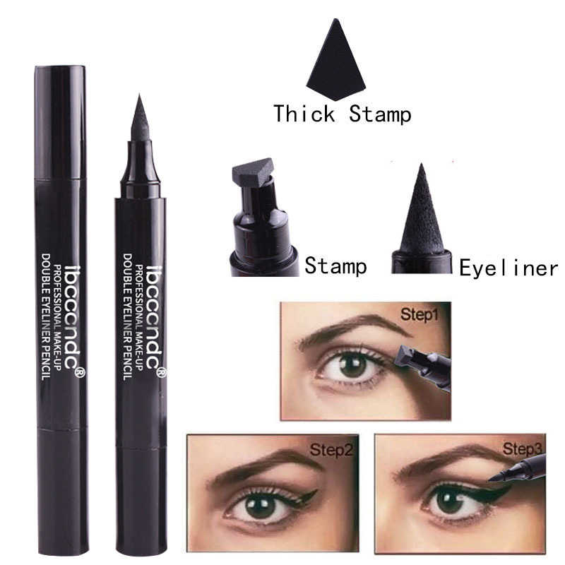 Double Head Black Eye Liner Stamps Wing Liquid Eyeliner Pencil Waterproof Quick Dry Long Lasting Makeup Tools Maquiagem TSLM2