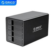 ORICO 95 série 4 baies 3.5 SATA vers USB 3.0 HDD Station daccueil pour 64 to avec adaptateur dalimentation interne 150W boîtier de disque dur en aluminium