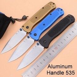 Mango de aluminio 535S Mark S30v hoja bolsillo supervivencia EDC herramienta camping caza frutas Utility exterior táctico plegable cuchillo