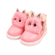Girls Fashion Snowfield Booties Children Winter Comfort Soft Plush Martin Boots Kids Cute Solid Warm Cotton Flat Short Boot