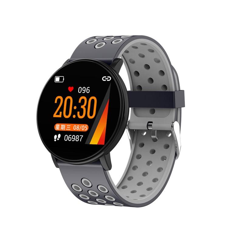 Спортивные Смарт-часы для мужчин, водонепроницаемые Смарт-часы для измерения артериального давления для женщин, монитор сердечного ритма, Bluetooth, умные часы для Android IOS - Цвет: W8C Gray blue