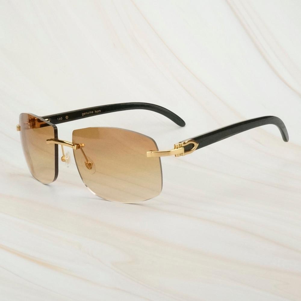 Retro Black Buffalo Horn Sunglasses For Mens Sun Glasses For Decoration Fishing Driving Club Outdoor Equipment Carter Sunglasses