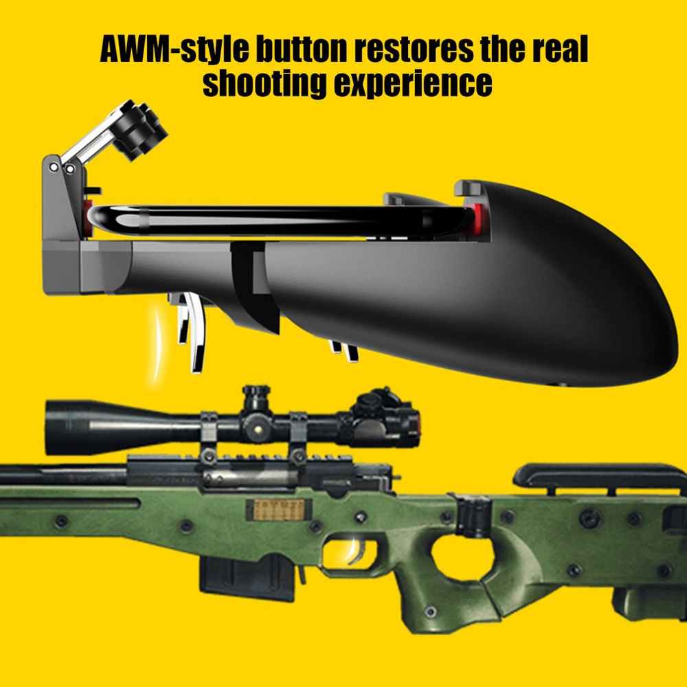 Купить с кэшбэком AK66 Six Fingers PUBG Mobile Gameing Controller Gamepad Joystick Fire Trigger Button Shooter Handle For IOS Android Mobile Phone