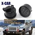 X-CAR 2 шт. светодиодный туман светильник сетки светильник для Jeep Wrangler 2007-2017 4000K 12V сигнал поворота для Jeep Wrangler