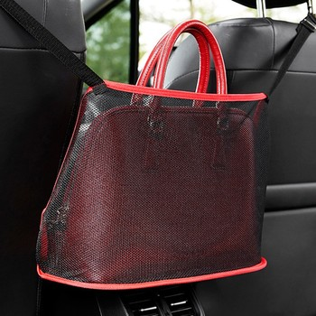 40cm Car Seat Back Organizer Oxford cloth Pad Bag Car Storage Organizer Storage Box Case Portable Car Net Pocket Handbag Holder image