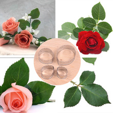 4Pcs/Lot Rose Leaf Cookie Cutter Stainless Steel Mold Cake Mould DIY Fondant Pastry Decorating Baking Cooking Tools