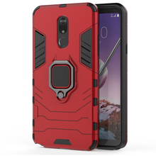 Creative business mobile phone case FOR: LG Stylo5 car ring bracket black panther shell armor anti-fall sleeve