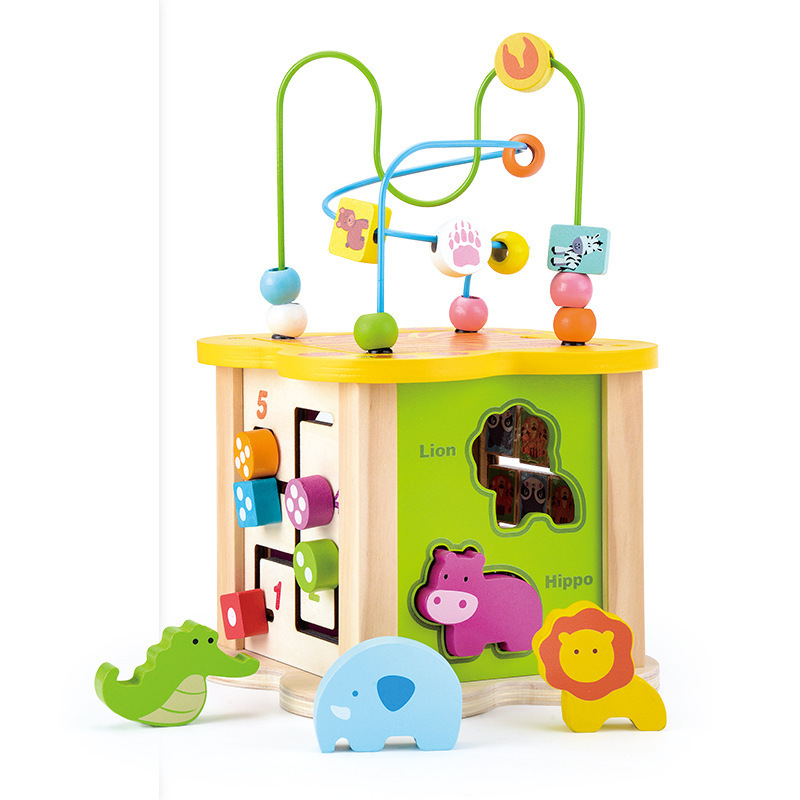 Kidus Infants Bead-stringing Toy Educational Toy 1-3 Years Old Bead Toy Educational Building Blocks Flower Type Music Bead-strin