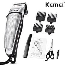 Kemei Electric Clipper Mens Hair Clippers 전문 트리머 가정용 저소음 수염 기계 개인 관리 이발 도구 45D