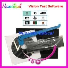 Новая упаковка, профессиональный тест на видение, программное обеспечение, черный жесткий картонный чехол, упакованный