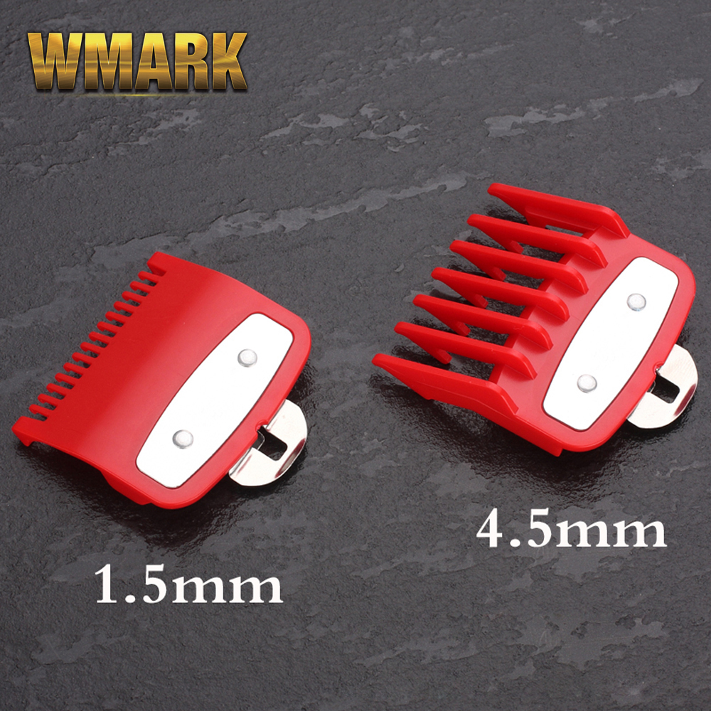 #0.5 #1.5 Guide Comb Sets 1.5 And 4.5 Mm Size Red Color Attachment Comb Set With A Metal Holder For Professional Clipper