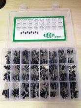 Kit de condensador electrolítico de aluminio, caja de 500 Uds. De 10V, 16V, 25V, 50V, 0,22/0,47/1/2.2/3.3/4.7/10 22 33 47 100 220 330 470 680 1000 UF
