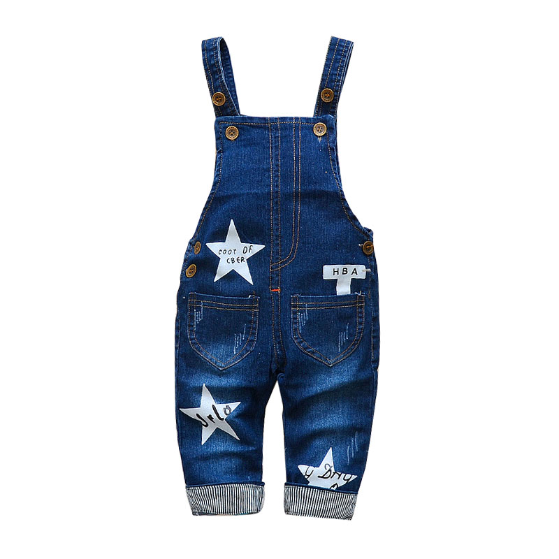 Children's Denim Overalls Baby Jeans Pants Baby Boys Girls Trousers Infant Clothing Toddler Babies Pants Little Kids 1-3 Years 2