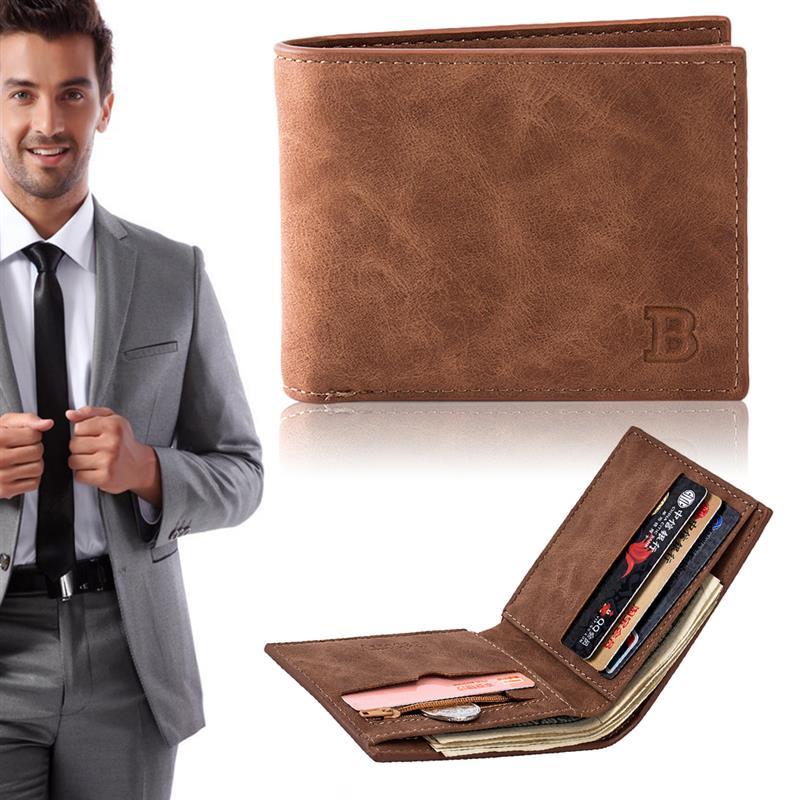 2019 Fashion Men Wallets Small Wallet Men Money Purse Coin Bag Zipper Short Male Wallet Card Holder Slim Purse Money Wallet