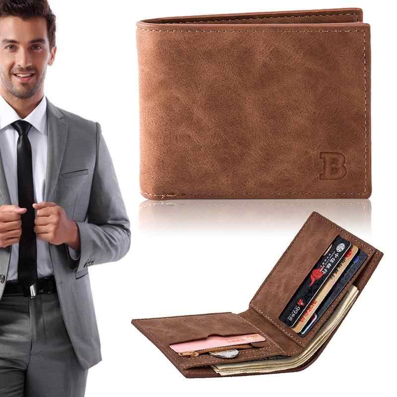 2019 אופנה גברים ארנקים קטן ארנק גברים כסף ארנק תיק מטבע רוכסן קצר זכר ארנק דק בעל כרטיס כסף ארנק