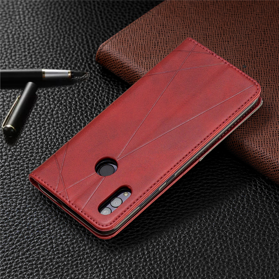 Hf8342adce73149b2aa91dc970c438b76j For Huawei Honor 10 Lite Case Leather Wallet Flip Cover Soft Silicone Case for Honor 10i 9X 8A 8S Magnetic Case Card Holder